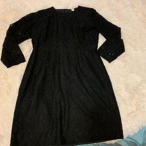 Jcrew little black lace dress 3/4 sleeve  US 14